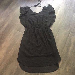 Never worn Black textured dress